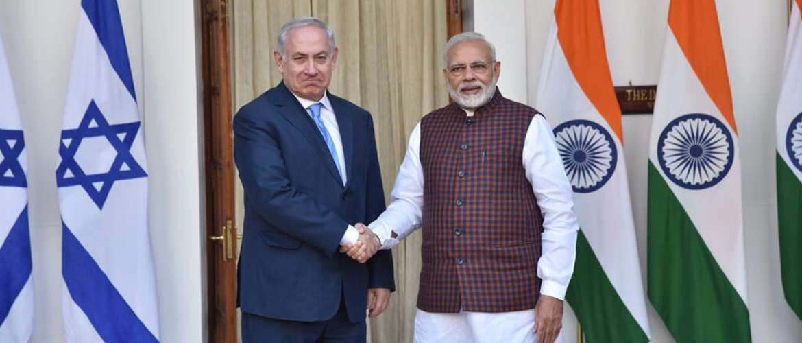 Prime Minister meets Benjamin Netanyahu, Prime Minister of Israel at Hyderabad House
