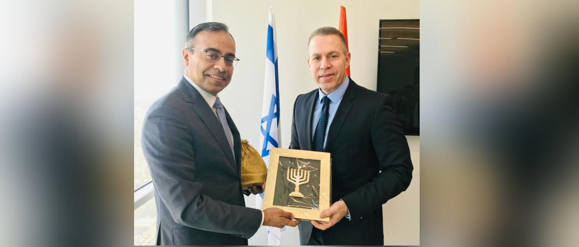 Amb Sanjeev Singla called on Minister of Public Security, Strategic Affairs and Public Diplomacy Gilad Erdan.
